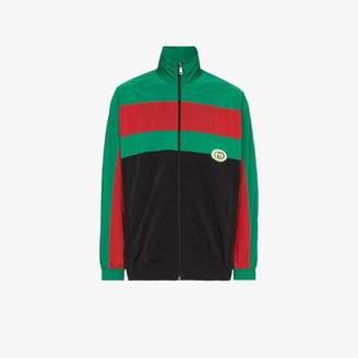 Gucci Zip-up stripe sports jacket