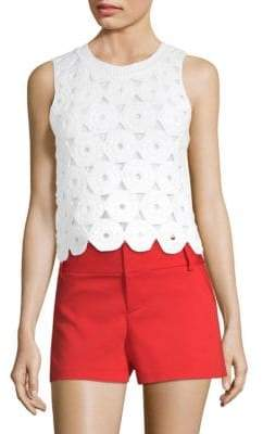 Alice + Olivia Reva Crochet Top