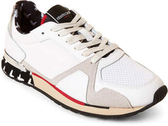 Roberto Cavalli Sport White & Red Low-Top Sneakers