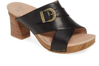 d486e9992289 Dansko Black Arch Support Women s Sandals - ShopStyle