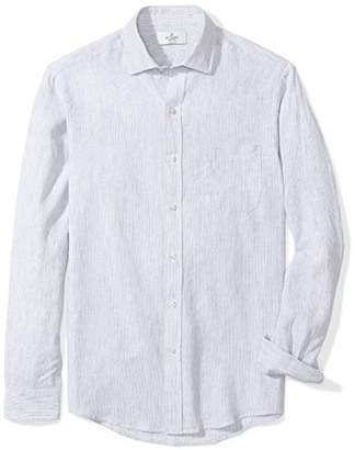 Buttoned Down Men's Classic Fit Spread-Collar Linen Sport Shirt