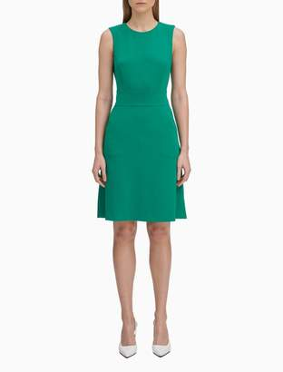 Calvin Klein Solid Pocket Sheath Dress