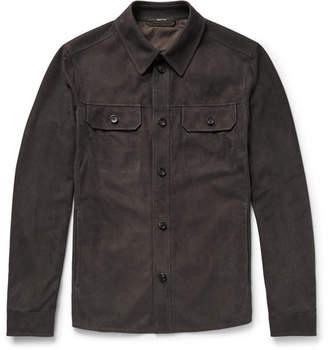 Ermenegildo Zegna Slim-Fit Perforated Suede Overshirt