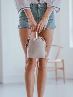 Goodnight Macaroon 'Adelaida' Linen Mini Basket Bag