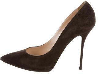 Casadei Suede Pointed-Toe Pumps $95 thestylecure.com