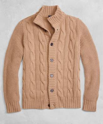 Brooks Brothers Golden Fleece 3-D Knit Camel Hair Cardigan