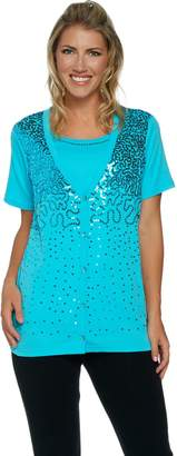 Factory Quacker Sequin Embellished Short Sleeve Duet