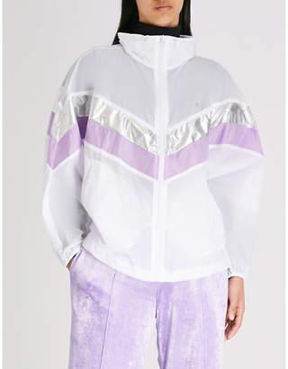 Mo&Co. Off Duty-print shell jacket