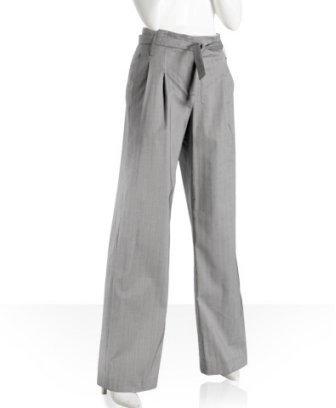 ADAM navy herringbone high waist pants