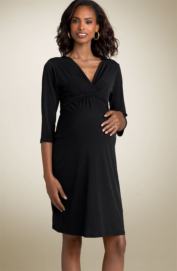 Olian Maternity Twist Front Matte Jersey Dress