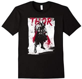 Marvel Thor Grunge Paint Splatter Graphic T-Shirt