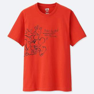 Uniqlo Men's Celebrate Mickey Short-sleeve Graphic T-Shirt
