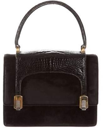 Gucci Vintage Alligator Handle Bag