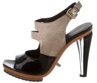 Rodarte Leather Wedge Sandals w/ Tags