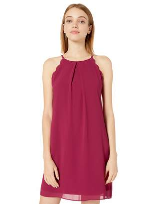 Amy Byer A. Byer Junior's Young Women's Teen Scalloped Edge Chiffon Shift Dress