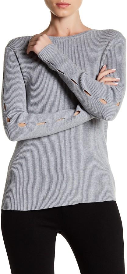 Cullen Rib Crew Cutout Sleeve Sweater 3