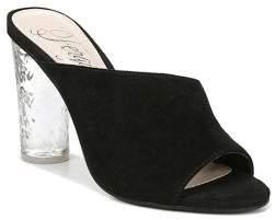 Fergie Naomi Suede Clear Heel Sandals