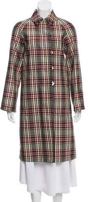 Derek Lam Wool Plaid Coat w/ Tags