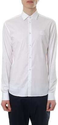 Frankie Morello White Cotton Shirt With Logo