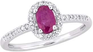 Rina Limor Fine Jewelry Women's Ring with Diamonds & Ruby