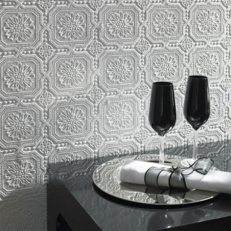 Graham And Brown Paintables Superfresco Wallpaper - Small Squares Pattern