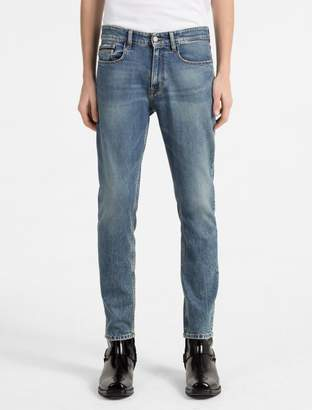 Calvin Klein straight tapered high rise faded jeans