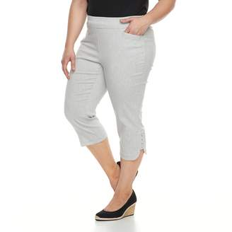 Briggs Plus Size Pull-On Capris