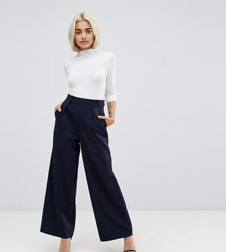 492df96422b936 Asos DESIGN Petite wide leg trousers with pleat detail