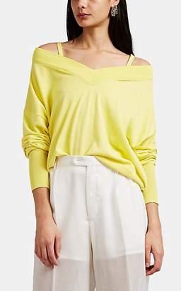 Maison Margiela Women's Off-The-Shoulder Sweater - Yellow
