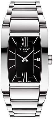 Tissot T1053091105800 Women's Generosi-T Date Bracelet Strap Watch, Silver/Black