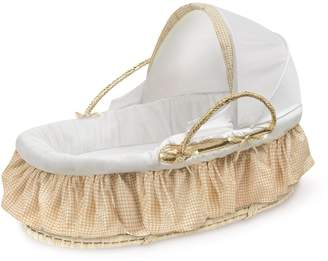 Badger Basket Natural Hooded Moses Basket - Gingham