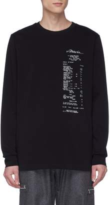 3.1 Phillip Lim 'Receipt' photographic print long sleeve T-shirt
