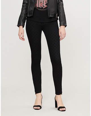 Claudie Pierlot Patiente velvet polka dot skinny high-rise jeans