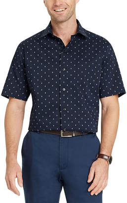 Van Heusen Short Sleeve Dots Button-Front Shirt