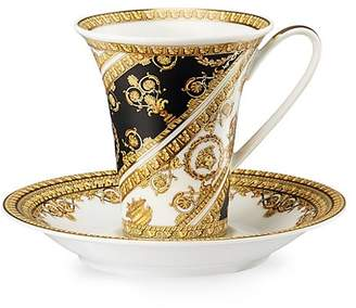 Versace I love Baroque Porcelain Coffee Cup and Saucer