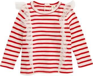Tucker + Tate Tulle Ruffle Stripe T-Shirt