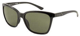 Asstd National Brand Smith Sunglasses - Colette / Frame: Shiny Black Lens: Grey Green