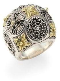 Konstantino Penelope Sterling Silver& 18K Yellow Gold Ring - Silver - Size 7