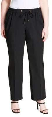 Calvin Klein Plus Tie-Waist Dress Pants