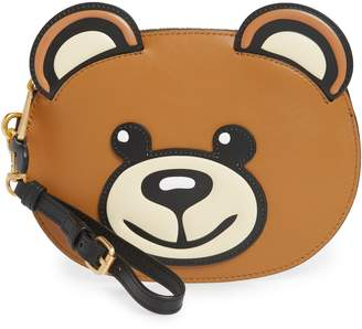 Moschino Bear Faux Leather Pouch