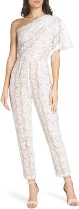 Harlyn One-Shoulder Lace Jumpsuit