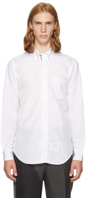 Thom Browne White Classic Point Collar Button-Down Shirt
