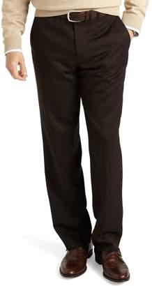 Brooks Brothers Regent Fit Plain-Front Classic Gabardine Trousers