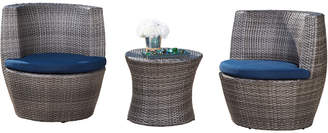 Abbyson Living Calsbad Outdoor Wicker 3Pc Patio Bistro Set