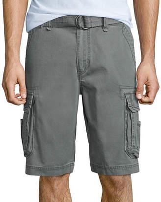 UNIONBAY Survivor Belted Vintage Cotton Twill Cargo Shorts