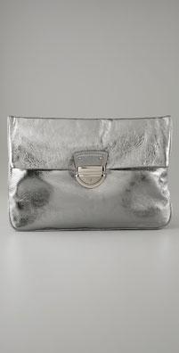 Cynthia Rowley Handbags Ginny Metallic Oversized Clutch