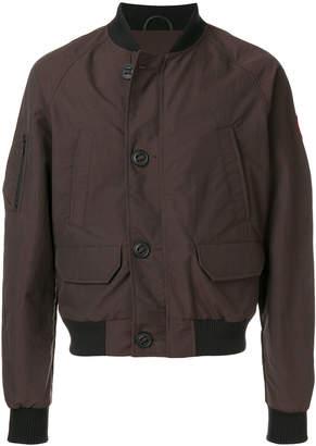 Canada Goose button bomber jacket