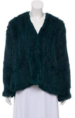 Elizabeth and James Bianca Rabbit Fur Jacket