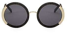 Balmain Women's Round Sunglasses With Gold Detail