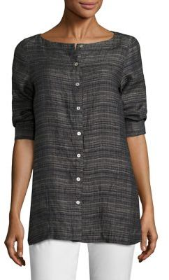 Eileen Fisher Textured Box Top $258 thestylecure.com